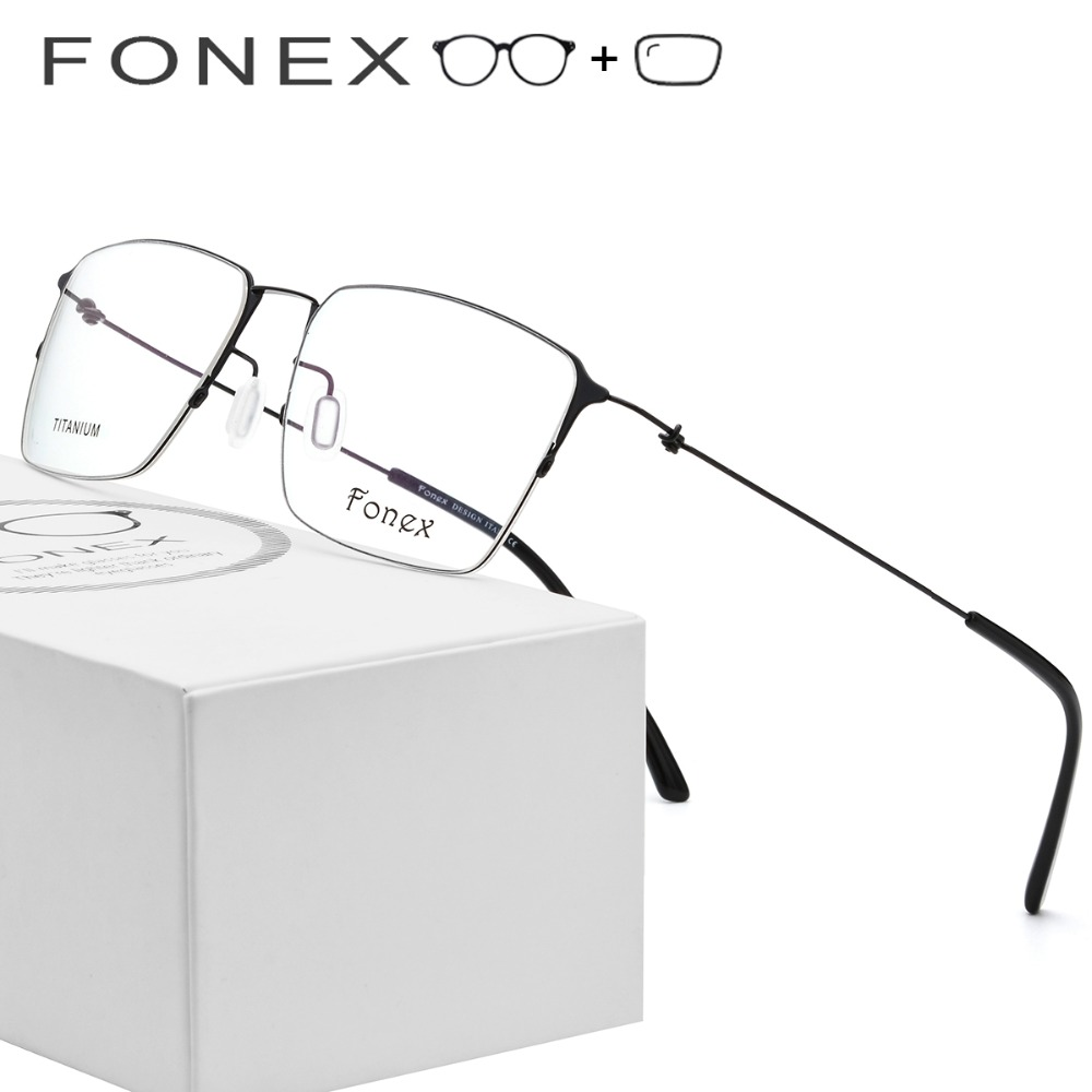 Titanium Alloy Prescription Glasses Men Semi Rimless Myopia Optical Frame Women Korean Screwless Eyewear Prescription Eyeglasses