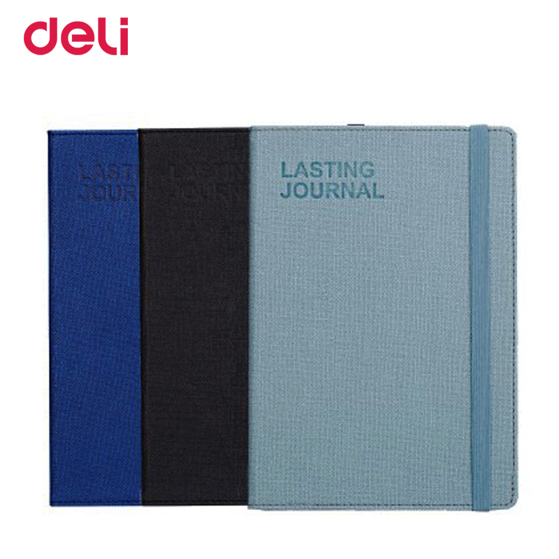 Deli wholesale retro 25K 56K PU leather cover notebook for school office supply quality business journal diary planner book gift deli гастроном 3179 brown jazz series классический ретро кожа блокнот 25k 130 ye случайных цветов