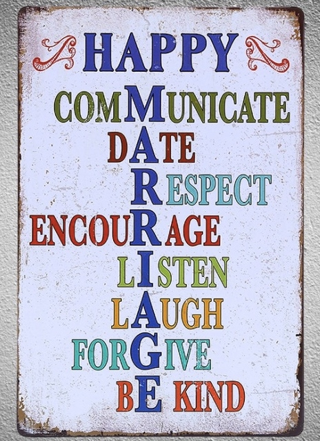 60 Pc Marriage Love Happiness Life Relationship Quotes Tin Plate Sign Enchanting Love Plaques Quotes
