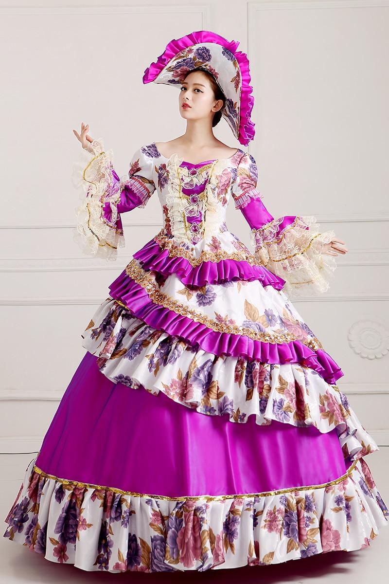 S-3xl damas reales medieval renacimiento victoriano Vestidos púrpura ...