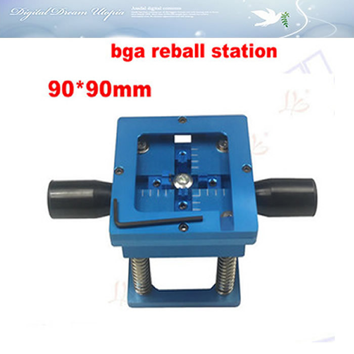Free shipping! 90*90mm BGA Reballing Station with Handle 90mm x 90mm Stencils Template Holder Jig free shipping direct heat reballing station with handle direct heating bga stencils holder for holding 90mm stencils