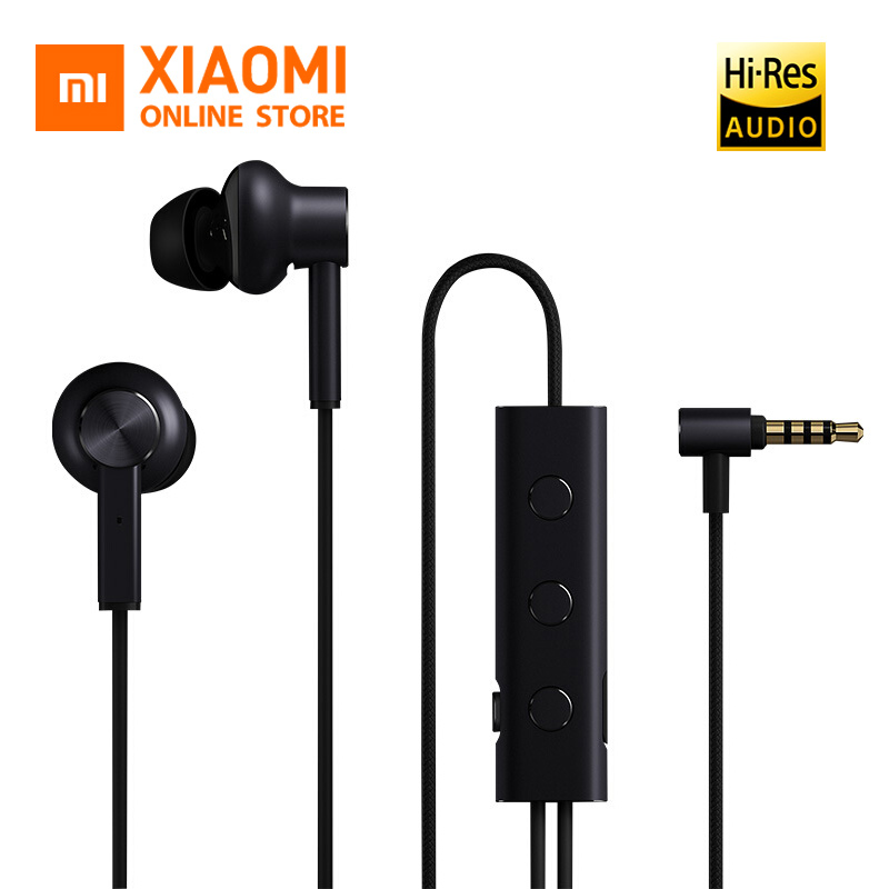 Xiaomi ANC Earphone Active Noise Cancelling Earphone 3.5mm jack Interface In-Ear Mic Line Control for Xiaomi mi A1 Xiaomi S2 S 2 ronin r380