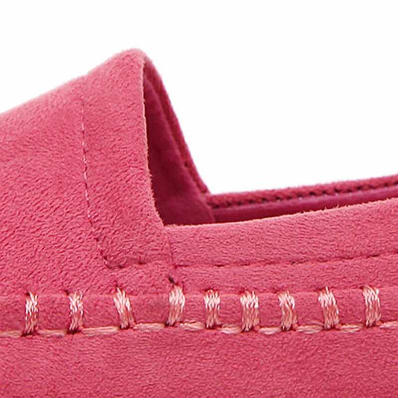 Mocassins chaussures femme nouveau doux troupeau sans lacet respirant femmes appartements printemps femmes enceintes chaussures plates dames décontracté mocassins plats