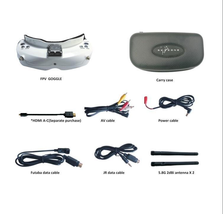 HobbyLane SKYZONE SKY02C 5.8Ghz 48CH diversité FPV lunettes de soutien DVR HDMI avec ventilateur de suivi de la tête pour Drone de course RC
