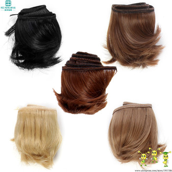 5cm*100cm Curly bangs hair For 1/3 1/4 1/6 BJD doll wigs Accessories image