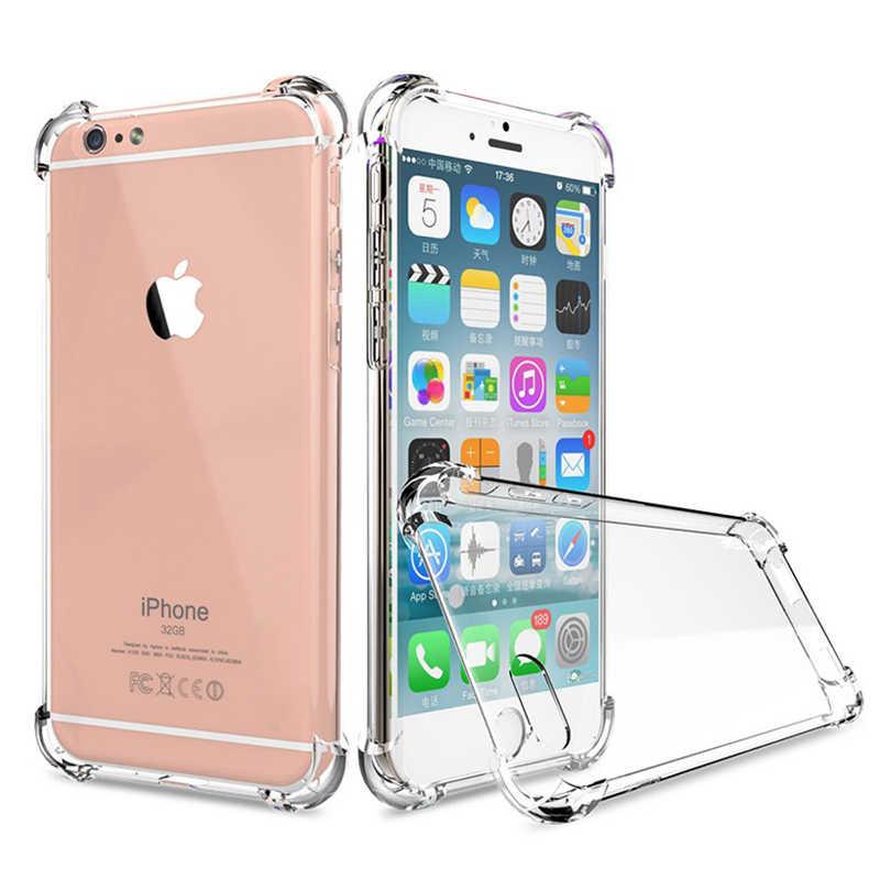 Odporny na wstrząsy miękkiego silikonu obudowa tpu dla iPhone 6 6s 5S 5 S SE 7 Plus 8 X XS Max XR 5SE skrzynki pokrywa iPhone7 luksusowy telefon przypadki Coque
