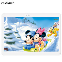 10.1 pollice Tablet PC Android 6.0 IPS Schermo 4G 3G Phablet 1.5 GHz octa Core 4 GB di RAM 32 GB eMMC Dual Camera GPS FM Tablet PC
