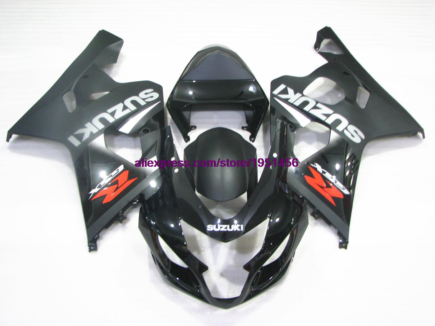 Motorcycle gloves gsxr - Gsxr 600 2004 2005 K4 05 Fairing Matter Black Glossy Black Injection Gsxr600 2005 Motorcycle