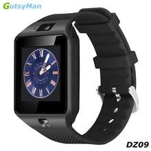 Лучшие GutsyMan Смарт-часы DZ09 с Камера Bluetooth наручные часы sim-карты человек Smartwatch для IOSAndroid телефоны Поддержка нескольких языков