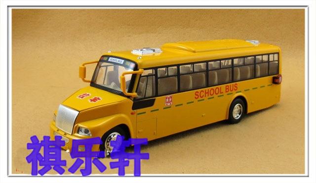 toy car New arrival Large vocalization plain school bus school bus model alloy car