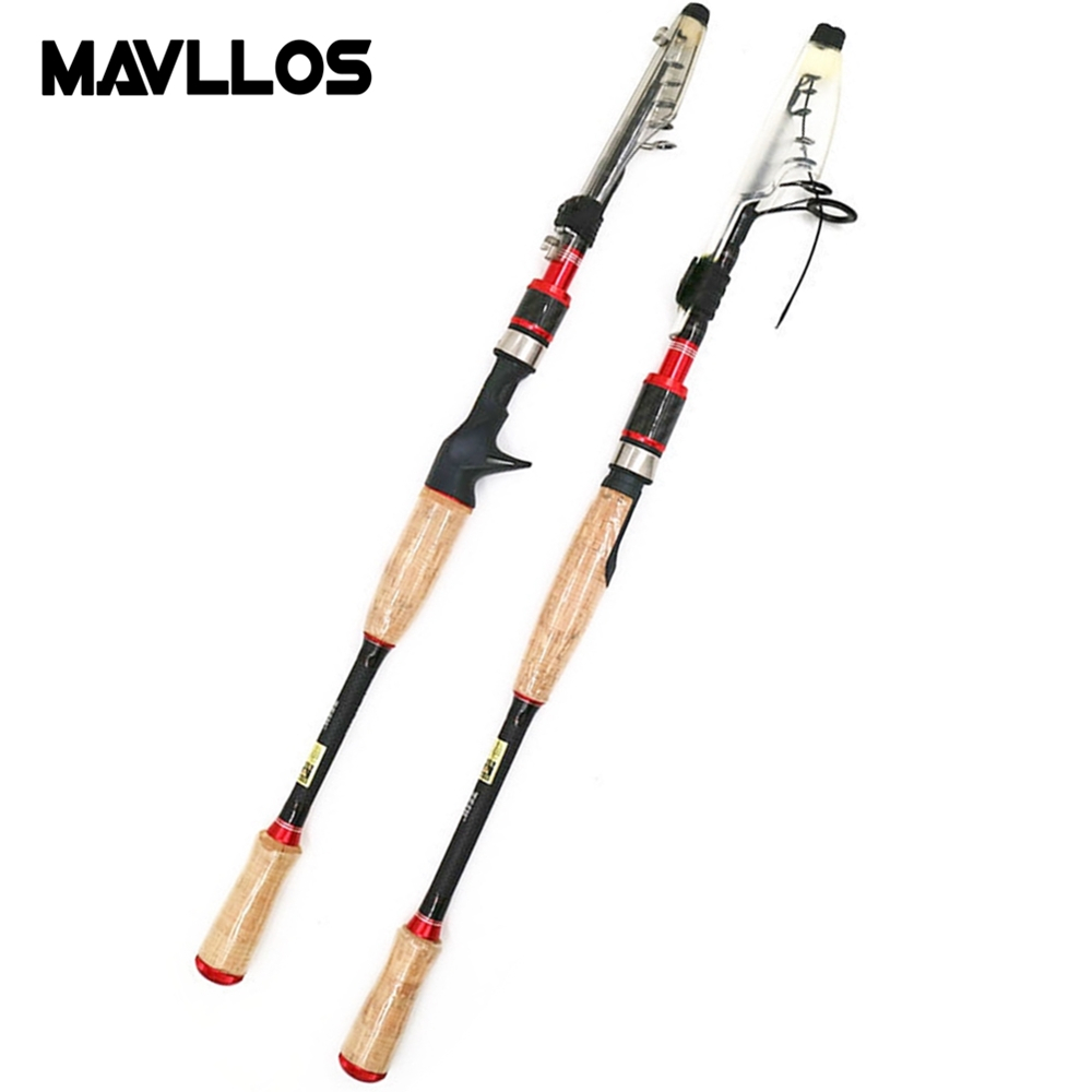 Mavllos ML Pole Telescope Spinning Rod Lure Weight 11-38g Soft Wood Handle Ultralight Carbon Carp Casting Fishing Rod mavllos m ml slow jigging rod fishing 1 83m 2 sections lure weight 30 300g ultralight carbon fiber fishing casting spinning rod