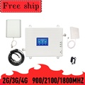 TFX-BOOSTER 2G/3G/4G Handy Cellular Signal Repeater Triple-band GSM 900 LTE DCS 1800 WCDMA 2100mhz Handy Signal Booster