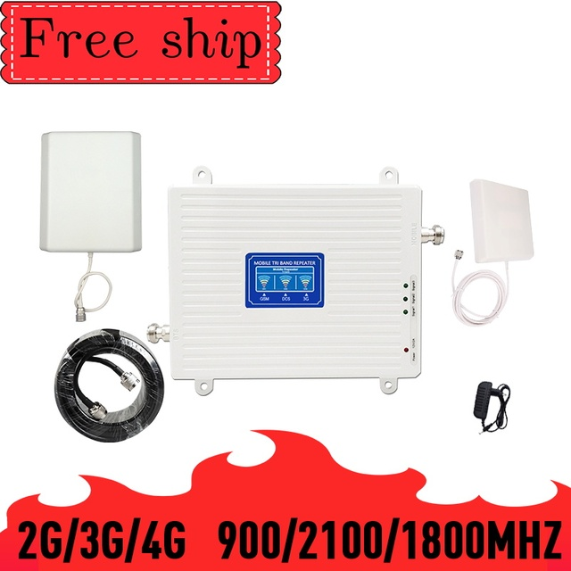 TFX BOOSTER 2G/3G/4G Mobile Cellular Signal Repeater Triple band GSM 900 LTE DCS 1800 WCDMA 2100mhz  Cell Phone Signal Booster