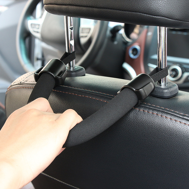 Car Styling Fashion Universal 39 2 5 5cm Eva Abs Seat Back Safety Handle