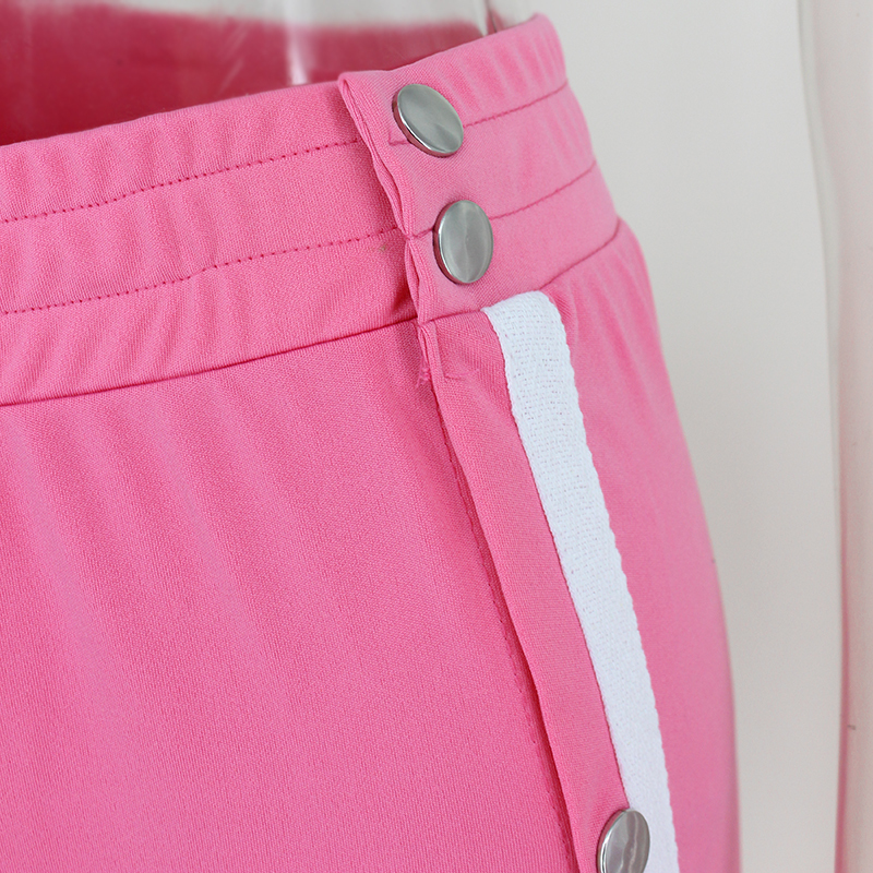 HTB1ZypGSpXXXXX2aFXXq6xXFXXXq - Red button track pants runway Women's wide leg trousers casual pants JKP012