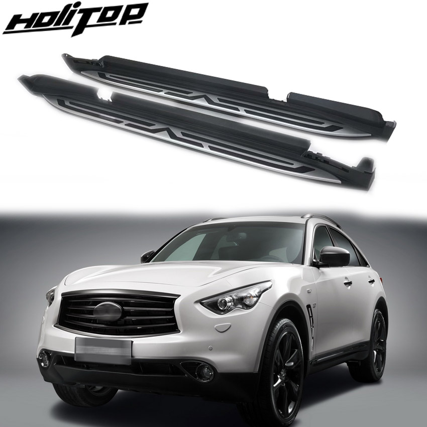 New arrival running board foot pedal nerf bar for INFINITI QX70 FX35 FX37 FX30d 2009 2019,can loading 300kg,can stand 4 persons-in Armrests from Automobiles & Motorcycles    1