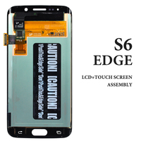 For Samsung Galaxy S6 edge LCD White Blue Gold Green Tested AMOLED Digitizer Display Touch Screen Assembly G925F LCD