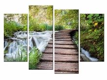 4 Pcs/Set Nature Pastoral plank road Canvas Painting Wall Picture Decorative Home Decor Modular Paintings/JO13-001