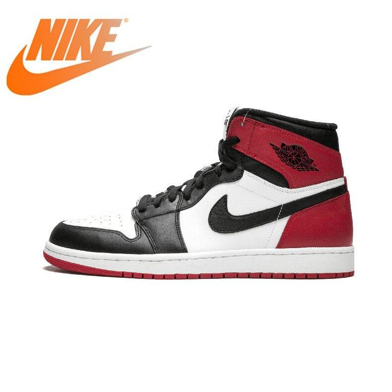 Auténtico Original Nike Air Jordan 1 ode Retro Royal AJ1 zapatos de baloncesto para hombres zapatillas deportivas cómodas transpirables 555088-184