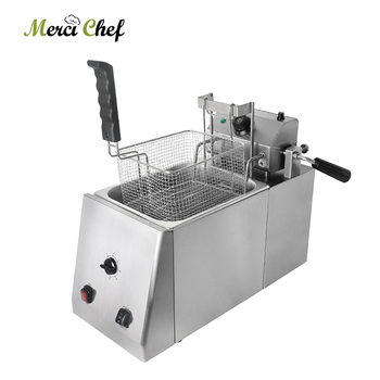 цена на ITOP Commercial Auto Lift-Up Deep Fryer With Timer Temperature Control Fryer Potato Chip Chicken Electric Frying Machine 11L