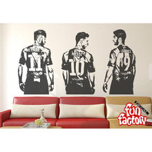 Soccer stars Wall Decal Sticker Creative Vinyl Sports home Decal