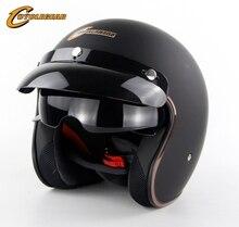 DOT Vintage 3/4 Motorradhelm hochwertigen Chopper Bike helm Retro Capacete Casco Sml XL verfügbar CG510