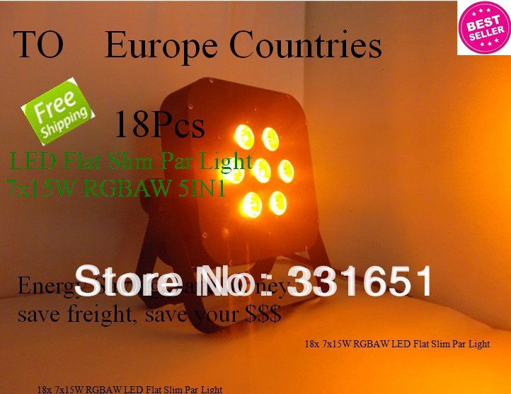 18pcs/lot LED Stage Par Light High Power LED Flat Par 7x15W RGBAW 5IN1 IN Fast Delivery within In Stock freeshipping 10in1 charging flightcase packing 12 18w stage wireless battery flat led par light rgbaw uv 6in1 uplighting par can