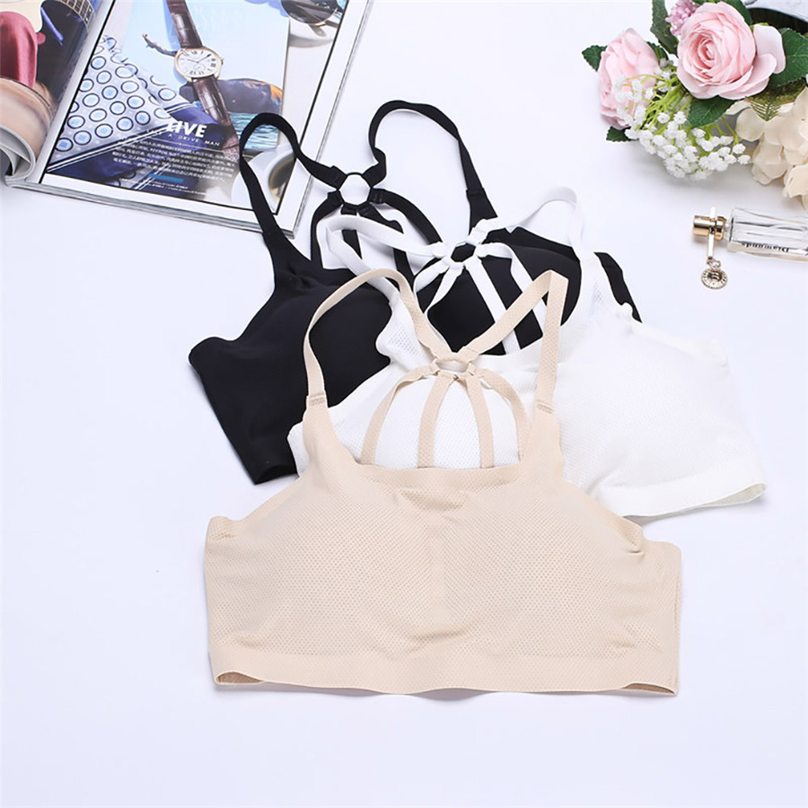 snowshine YLW Sexy Women Open back harness Padded no trace no steel ring girls comfortable bra