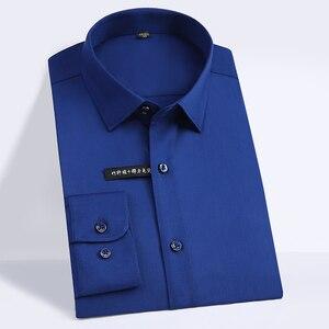 Image 4 - Hoge Kwaliteit Klassieke Stijl Bamboevezel Mannen Jurk Shirt Effen Kleur Mannen Sociale Shirts Kantoor Slijtage Easy Care (regular Fit)