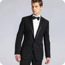 Черные мужские костюмы на заказ облегающая свадебная одежда
