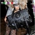 4 Colours Dropshipping Lady Fashion Bag Designer fashion punk skull rivet bag fashion all-match women's handbag big bags  H080-2