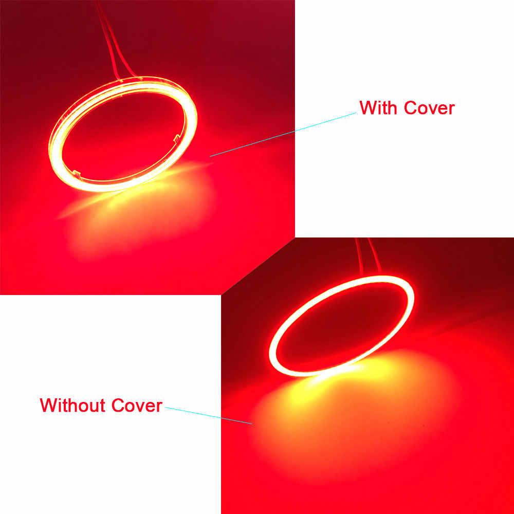 60-120 Mm Angel Eye Led Cob Ring Licht Dagrijlicht Rood Blauw Wit Oranje Groen Roze Auto koplamp Drl Decoratieve Verlichting