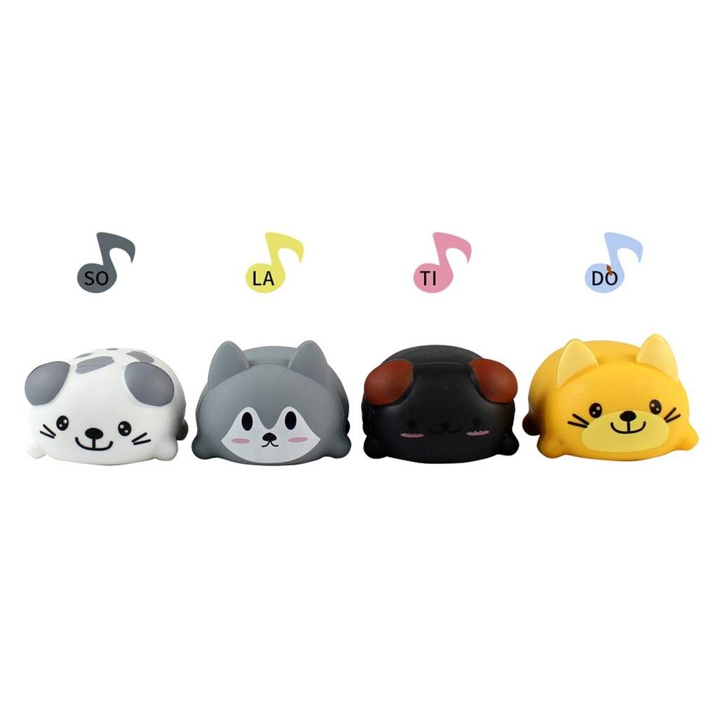 8 pièces/ensemble bébé enfants jouet échelle musicale tactile sensible chat chien électrique joueur Piano drôle Silicone animaux jouet éducatif - 6