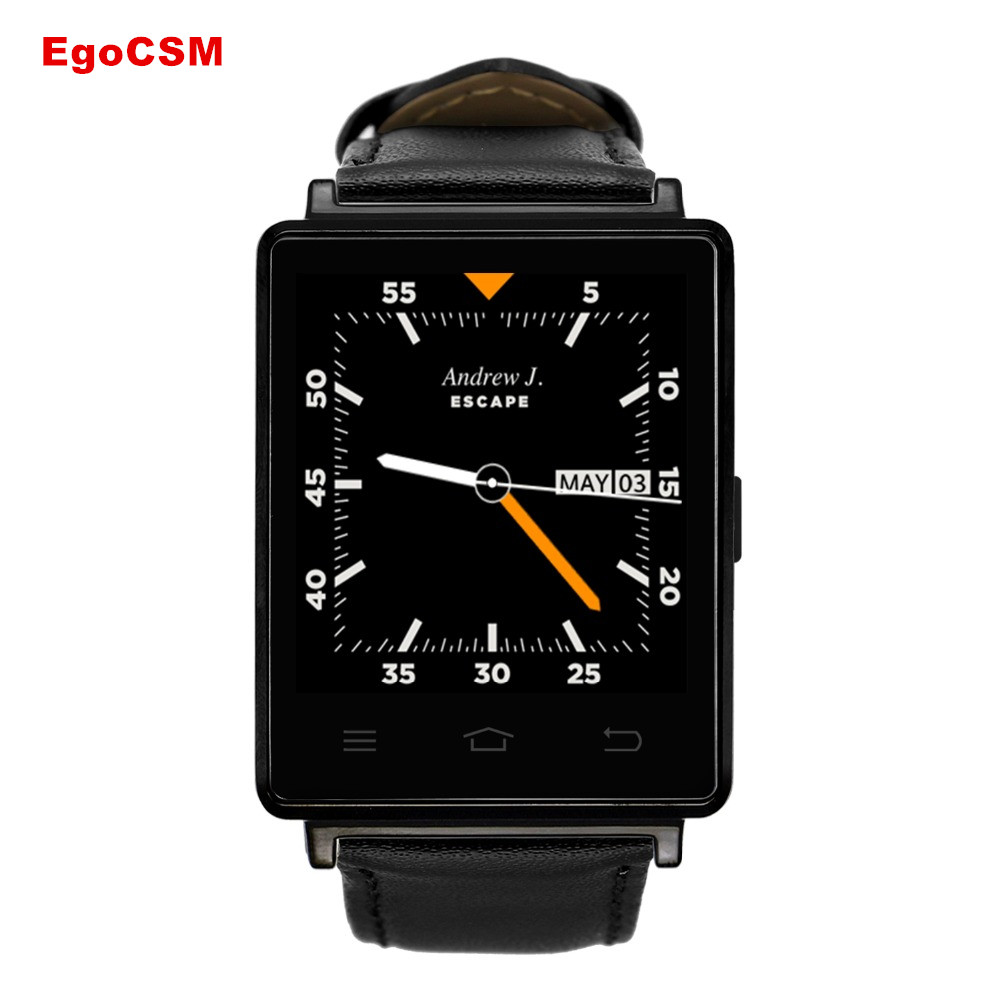 EgoCSM NO.1 D6 Smart Watch Android 5. 1 3G Phone MTK6580 Quad Core GPS WiFi Bluetooth 4.0 Wearable Devices For Men and Women smart baby watch q60s детские часы с gps голубые