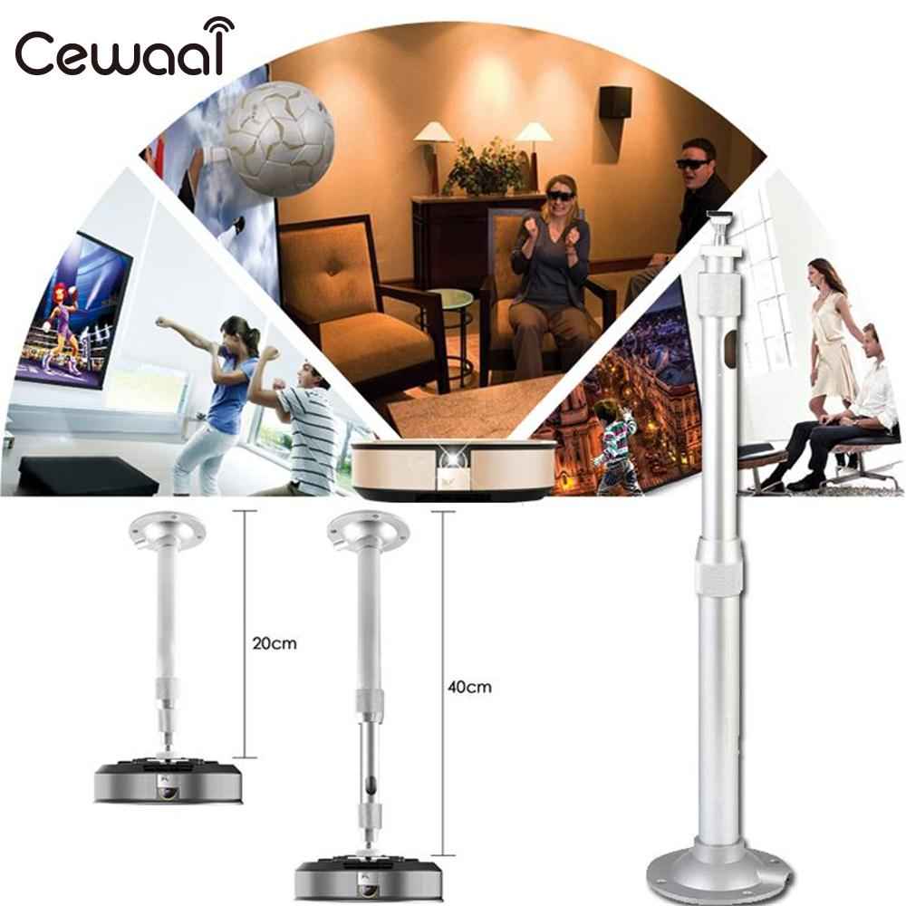 Cewaal Aluminum Alloy DLP LCD Mini Projector 360 Degree Adjustable Extendable Ceiling Wall Mount Bracket Hang Holder Stand