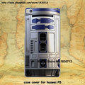 Star wars r2d2 robô projeto duro transparente clear skin caso capa para o huawei p9 p9plus p6 p7 p8 lite