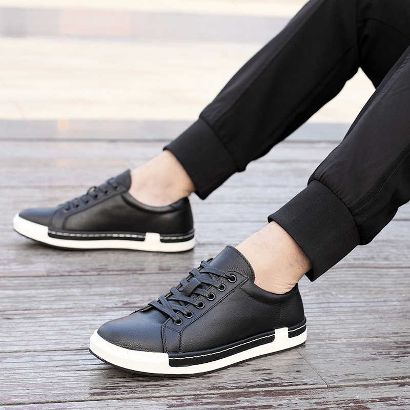 Bimuduiyu Autumn New Casual Shoes Mens Leather Flats Lace-up Shoes Simple Stylish Male Shoes Large Sizes Oxford Shoes For Men #4