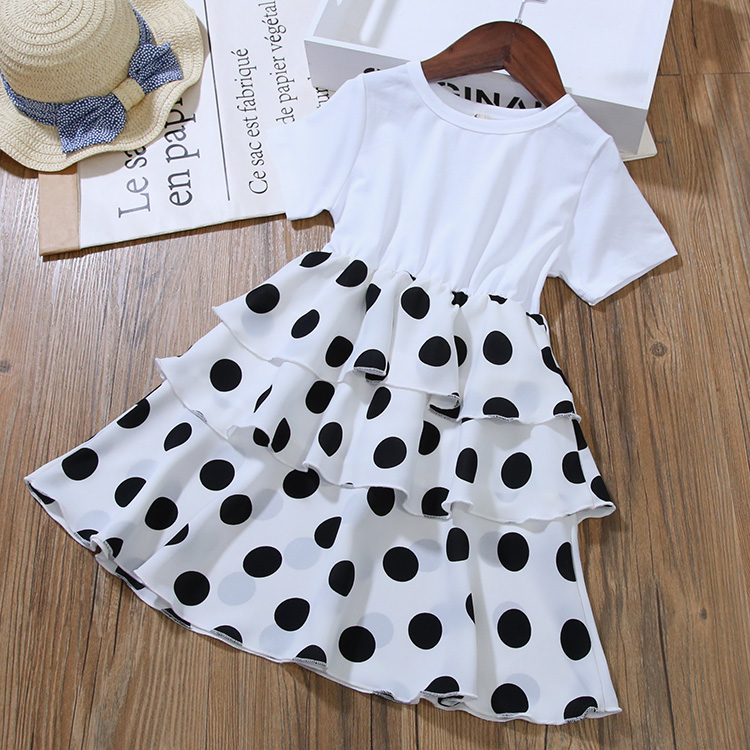 Girls Layered Dresses for Party and Wedding Kids Princess Dot Dress for Toddler Girl Clothes Summer Dot Layered Dress In Kids 3
