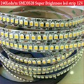 Super Brightness SMD3528 led strip light 240led/m DC12V cold white/warm white led tape diode tape