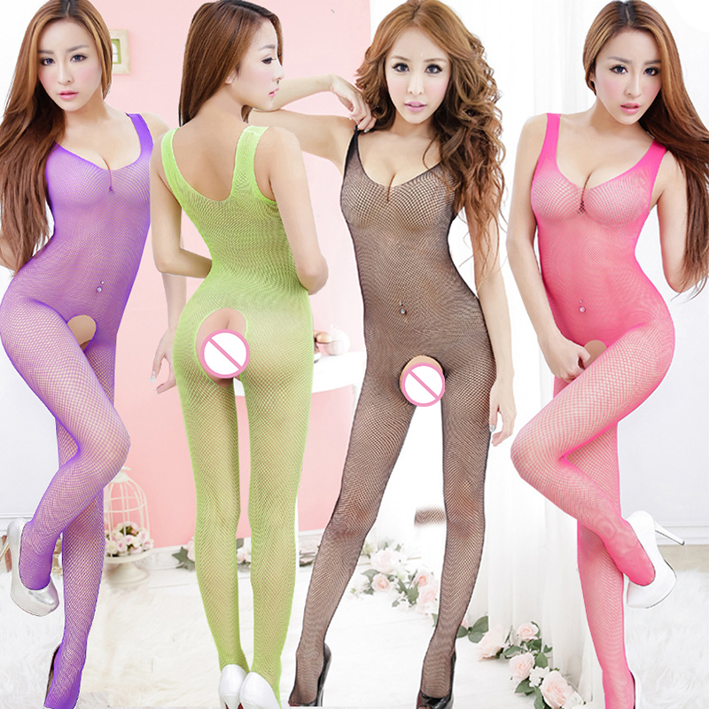 Sexy Lingerie Teddies Bodysuits Exotic Apparel Women's Tight Open Crotch Body Stocking Red Teedy Lenceria Sexy Costume