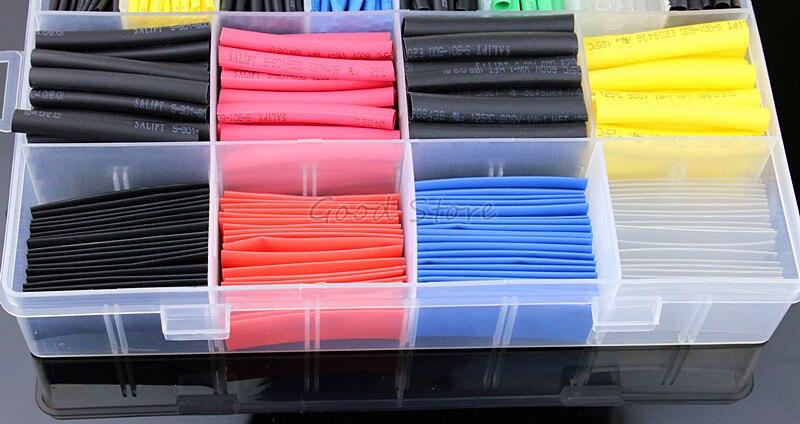 580 шт/530 шт/260 шт ассортимент электронный 2:1 обёрточная бумага провод кабель изолированный полиолефин Термоусадочная трубка коэффициент трубопровода изоляция