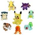 Pocket Monster Пикачу Charmander Gengar Bulbasaur Dragonite Snorlax Плюшевые Игрушки Куклы Сказка Подарки Для Детей 12 Стиль 13-20 см