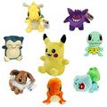Pocket Monster Pikachu Charmander Gengar Bulbasaur Dragonite Snorlax Plush Toys Doll Fairy Tail Gifts For Kids 12 Style 13-20cm