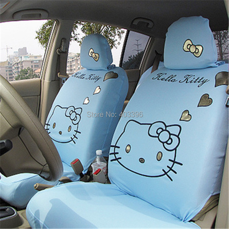 FREE SHIPPING Brand New 10 PCs Hello Kitty Light Blue Car Seat Covers UNIVERSAL In Automobiles From Motorcycles On Aliexpress