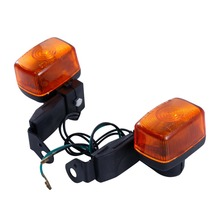 ABS Pair Front Rear Turn Signal Light Indicator Orange Lens For Yamaha DT230 Left+Right