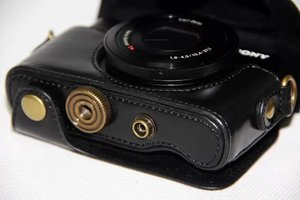 Image 3 - Leather Camera Case Cover Bag for Sony Cyber shot RX 100M3 RX100V M3 rx100ii DSC RX100 m3 M5 rx100 iii RX 100 ii camera bag