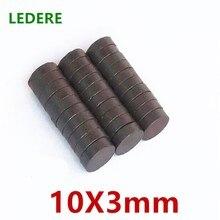 10/20/50/100 шт./лот Y30 диск ферритовый магнит 10×3 постоянный магнит 10X3 мм черный круглый Динамик 10 мм x 3 мм 10*3 мм