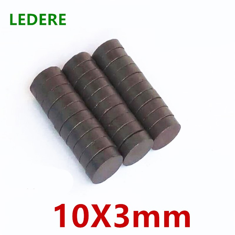10/20/50/100pcs /lot Y30 Disk Ferrite <font><b>Magnet</b></font> 10x3 Permanent <font><b>magnet</b></font> <font><b>10X3mm</b></font> Black Round Speaker 10mmx3mm 10*3 mm image