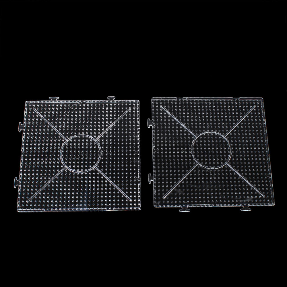 Plastic DIY Hama Beads Pegboards For Great Kids Fun Craft Square Clear 15.3cm(6) x 15.3cm(6) , 1 Piece