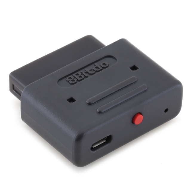 8 8bitdo の Bluetooth レトロ受信機のワイヤレスドングルスーパーファミコン SFC と互換性 NES30 SFC30 ファミコンプロ PS3 PS4 Wii U ゲームコントローラ